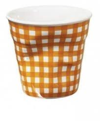 6 Tasses froissées expresso vichy orange Revol 8 cl
