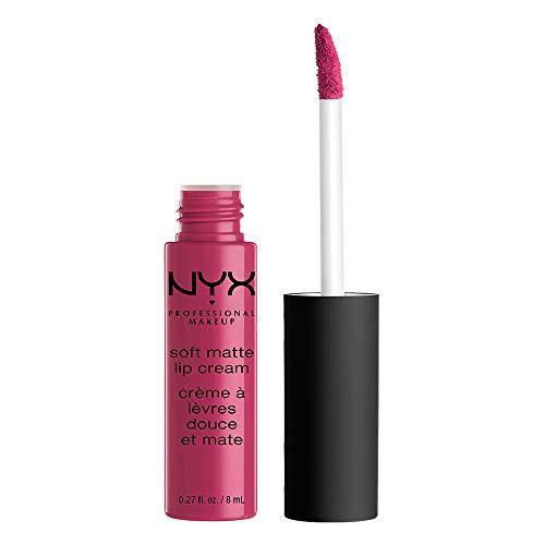 NYX Professional Make Up Soft Matte Lip Cream Finish Matte e Cremoso, Colore Extra-Pigmentato, Long Lasting, Tonalità Prague