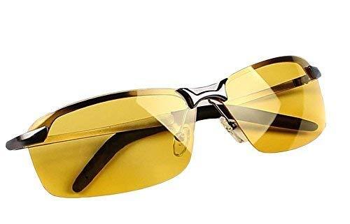Butterme Gafas Polarizadas de Visión Nocturna,Gafas de Conducción Nocturna con Protección UV Antirreflectante (para Conducción Segura, Lentes Transparentes y Amarillos)