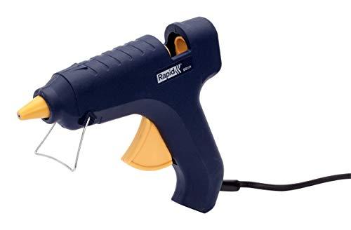 RAPID - Kit Pistolet à colle EG111 + 500 g de colle en bâtonnets de Ø12 mm - 25 W/120-240 V - Chauffe en moins de 10 min - Protection de buse silicone - Garantie 2 ans - 144 x 169 x 32 mm - 220 g