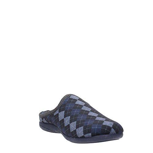 Grunland CI1058-B2 Pantoffel Herren Filz Grau/Blau