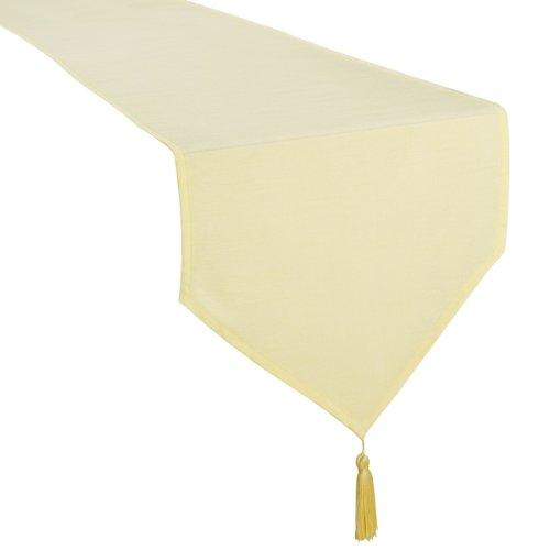 Casual Dining 13 X 72 Inch Faux Silk Runner Cream