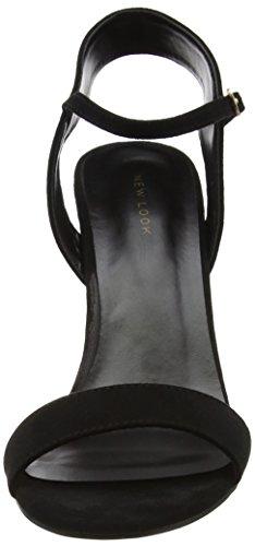 New Look 3932861, Sandali con Cinturino alla Caviglia Donna Nero (Black)