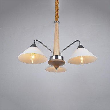 DIAOXD Lámparas Araña, Moderno/Contemporáneo Campestre Galvanizado Característica for LED Madera/BambúSala de Estar Dormitorio Comedor, 220v