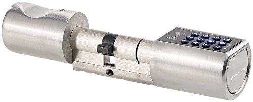 VisorTech Türschloss: Elektronischer Tür-Schließzylinder, Transponder-Schlüssel, Zahlen-Code (Elektronisches Türschloss)