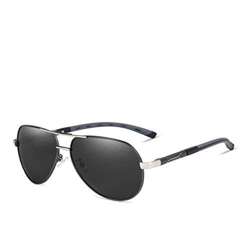 Taiyangcheng Herren Polarisierte Sonnenbrille Aluminium Magnesium Rahmen Autofahrer Sonnenbrille Polarized Goggle Eyewear,Grau