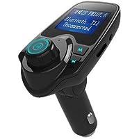 ExcLent Car Bluetooth Reproductor De Mp3 Cargador para Auto - Espejo Negro
