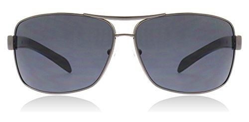Prada Linea Rossa Herren PS54IS Silber Sonnenbrille, Gunmental 5AV6S1), One size (Herstellergröße: 65)