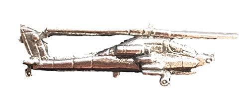Emblems-Gifts Apache-Hubschrauber Handgefertigt aus Englische Zinn Revers Anstecknadel (Wa) + 59mm Knopf-Abzeichen