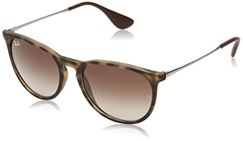 Ray-Ban Erika Wayfarer Sunglasses, Brown, 54 mm