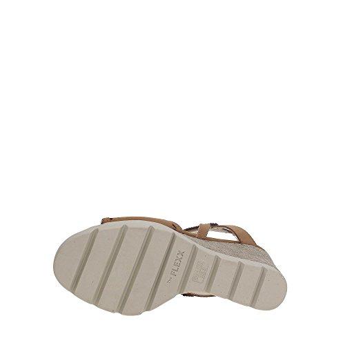 The FLEXX B606/25 Chaussures Compensées Femme COGNAC
