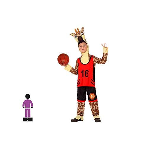 Kostüm Basketball Für Jungen - Schwan 2013, S.L. Kinderkostüm 2 teilig für Karneval Kinder oder Mädchen Giraffe Basketball Größe 3-4 Jahre Junge und Mädchen Cosplay Kinder Giraffe Karneval