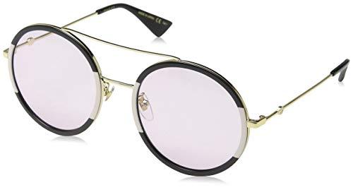 Gucci GG0061S 008 Gafas de sol, Dorado (Gold/Green), 56 para Mujer