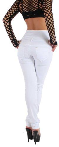 Donna sui jeans taglio dritto in modo da pantaloncini in XS/34 - XXL sinlook/44 Panna