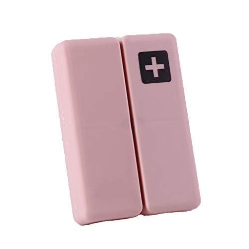 XLanY Aufbewahrungsbox, Kleine Tragbare 7 Tage Wöchentliche Pille Box Magnet Deckel Tablet Lagerung 7 Grids Fall Pille Splitter Pill Box Lagerung,Pink -