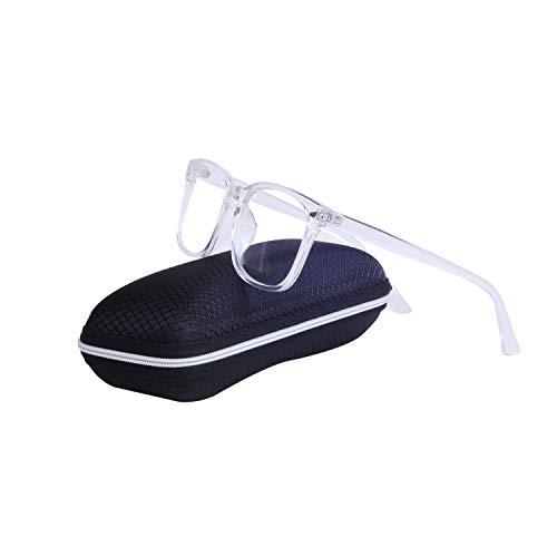 JoXiGo Brillenfassungen für Herren & Damen Ohne Stärke Groß Rahmen Dekogläser Nerdbrille mit Brillenetuis