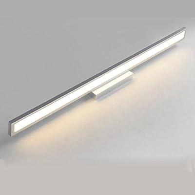JIAO LED 110-220V Warmweiss Spiegelleuchte Edelstahl Frontleuchte ...