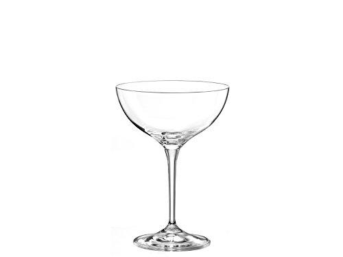 Bohemia Crystal Lot de 6 coupes de champagne Kate CL 21, verre, transparent, 23 x 34 x 16 cm