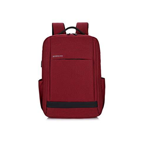 AnSuu Business Computer Pack USB Smart Charging Borsa A Tracolla Da Uomo, Da Viaggio, Per Il Tempo Libero (colore : Red)
