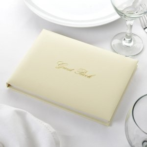 Gold / Ivory Guest Book