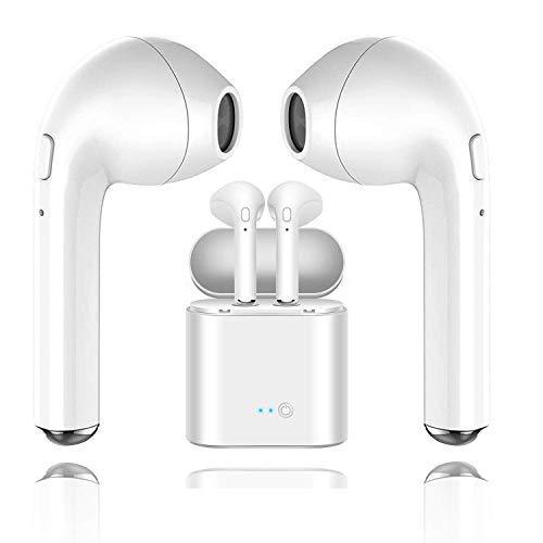 Auriculares Inalambricos Bluetooth Mini Twins I7s TWS Auricular inalámbrico Auricular intrauditivo Auricular Auricular con estuche de carga para IOS, Android, Todos los dispositivos Bluetooth - Blanco