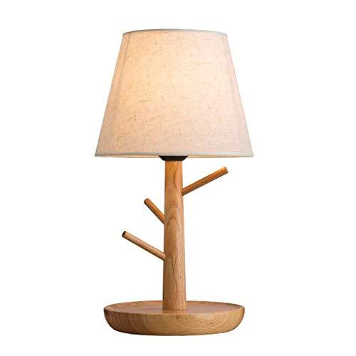 Hlhhl Lamp Lampe De Bureau En Bois Lampe De Table De Chevet