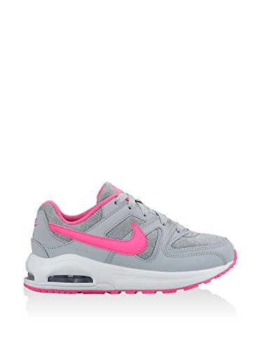 Nike Air Max Command Flex (PS)- Chaussures de running Fille, Gris (Wolf Grey / Pink Blast-White) Multicolore