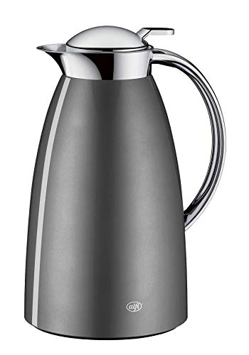 alfi Isolierkanne, Thermoskanne, Gusto, Edelstahl Space Grey 1,0 l