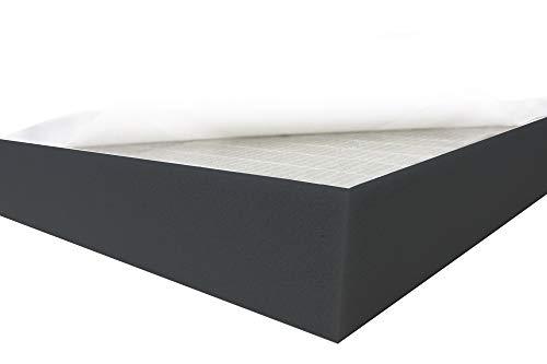 Dibapur ® Black FSE • Flamm hemmend SELBSTKLEBEND Raum Akustik Schaumstoff Dämmung Schallschutz (50x50x8 cm)
