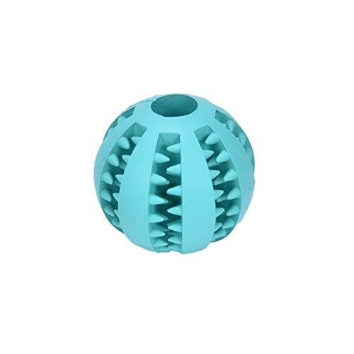 Ari_Mao 1 Stück Hund Welpen Spielzeug Ungiftig Gummi Dental Ball Zähne Reinigung Spielzeug Ausbildung Spielen Kaugummi (Blau)