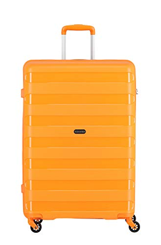 """Travelite Farbenfrohe, lässige Hartschalen-Trolleys der Serie \""""Nova\"""" machen jede Reise zum bunten Abenteuer Koffer, 75 cm, 99 Liter, Orange"""