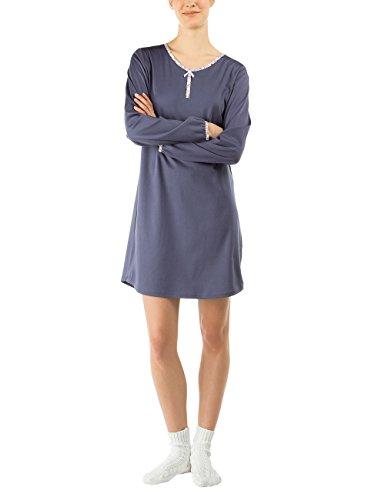 Calida Damen Nachthemd Set Love In The Box Blau (blued denim 396)