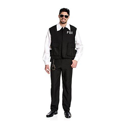 i-Kostüm FBI Agent Kostüm US Polizist Größe 48/50 (Polizisten Kostüm Für Frauen)