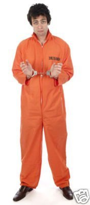 Club Country Kostüm - Classic Orange Prisoner Overall Jumpsuit Boiler Suit Convict Prison Inmate Fancy Dress Costume Outfit by Country Club