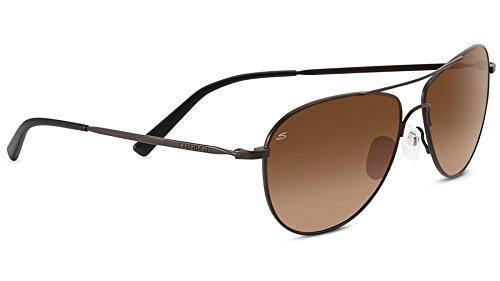 Serengeti Eyewear Unisex-Erwachsene Sonnenbrille Alghero Satin Dark Espresso/Drivers Gradient, Medium