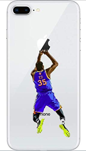 WRAP Hülle Kompatibel mit iPhone 7+ Plus/iPhone 8+ Plus Kevin Durant KD Golden State Warriors 35 NBA Basketball NBA TPU Silikon