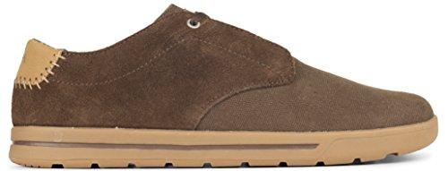 Ultimative Walking-schuh (Forsake Phil Spitze-Herren Casual Leinwand Sneakers, knöchelfrei Sneaker, Herren, Bison, 8 D(M))