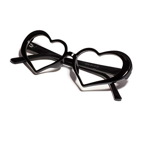 YAM DER Süßigkeitenfarbe Sonnenbrillen,Damen Brille,Herz Leuchtgläser,Vintage Brille,Anti-blaues Licht,Retro Gläser, UV400 - Verspiegelte Gläser,Nacht Vision Blendschutz Brille,Kleine Brille (A)