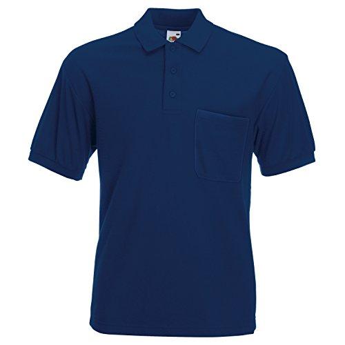 Fruite of the Loom Polo Shirt mit Brusttasche, vers. Farben Marineblau