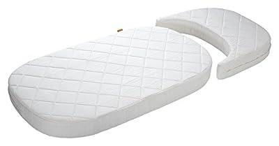 Blanco Leander de bebé y cuna + 1juego (= 2unidades) Original de sábanas en la Baby tamaño + 1Colchón en los tamaño + bebé bebé Cuna en Vanilla Crema