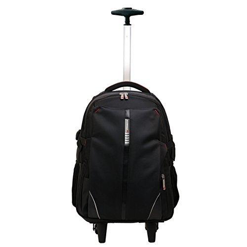 "Phoenix Technologies PHDISCOVERY - Mochila trolley de nylon con ruedas para portatil de hasta 17"", color negro"