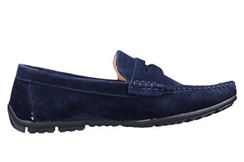 Goor - Chaussure Derbie W001 Mocassin Marine Bleu
