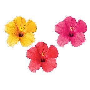 Tropical Floral Cutout Decorations