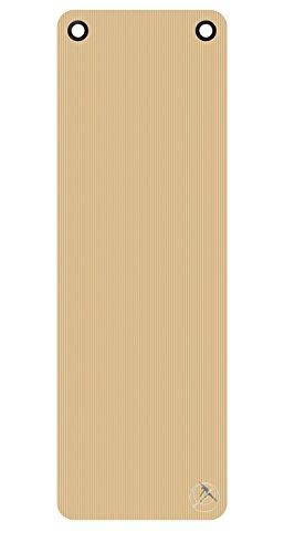 Gymnastikmatte / Yogamatte - ProfiGymMat 180 mit Ösen, 1.0 cm, beige