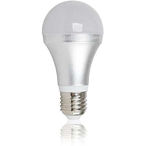 Juego de 3bombillas de LED SMD. E-27, pera esmerilado, diámetro de 60mm) 7Watt = 7Watt 680lumens. Color blanco del día/Light Therapy 6000K, vida
