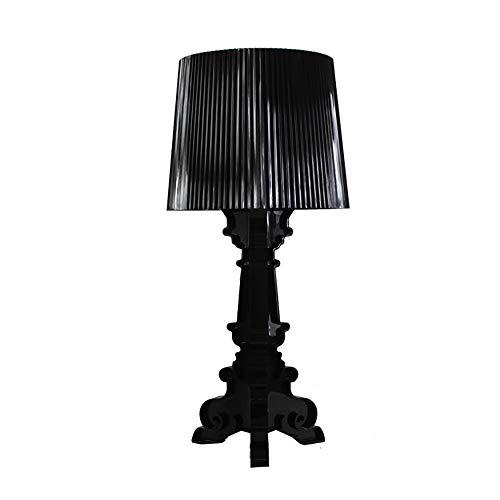 Personnalité Baroque Ghost Lampe De Table,Barbara Lampe De Table Décorative,Simple Chambre À Coucher Intérieure De Salle De Séjour Transparent/Noir,Black
