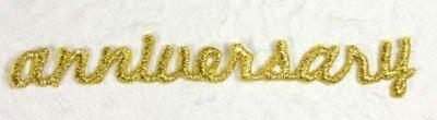 Anniversaire 'Or Broderie lettres Tissu Motif autocollant