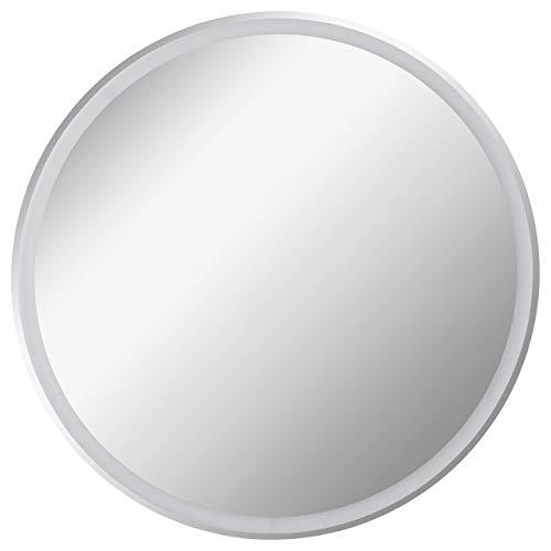 FACKELMANN LED Spiegel rund Ø 80 cm Mirrors/Wandspiegel mit umlaufender LED-Beleuchtung/Maße (B x H x T): ca. 80 x 80 x 3 cm/hochwertiger Badspiegel/moderner Badezimmerspiegel/Durchmesser 80 cm