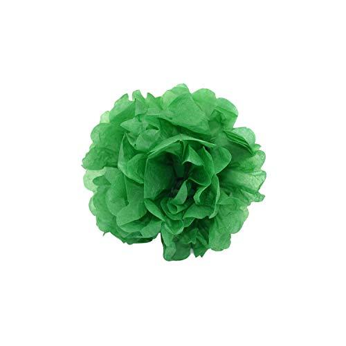 Seidenpapier PomPoms Papierblumen-Kugel für Hochzeit-Geburtstags-Party-Hausgarten-Dekoration, Kelly grün, 6inch 15cm