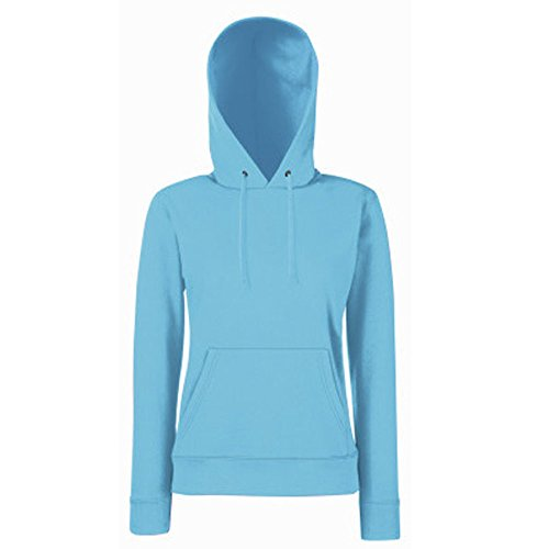 Fruit of the Loom Lady-Fit Kapuzensweatshirt Azurblau